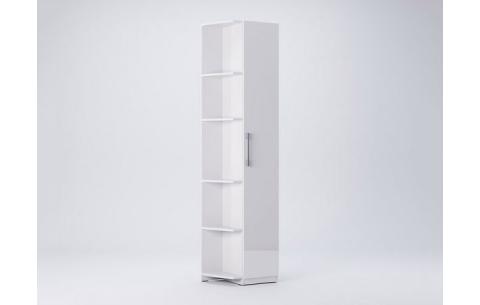 Шкаф Миромарк «Фемели Угловое окончание» Глянец белый 210,4х53х36,6 Правая