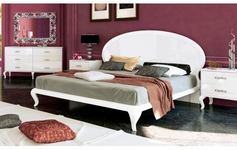 Кровать двуспальная 160x200 Империя (с каркасом, без матраса) MiroMark