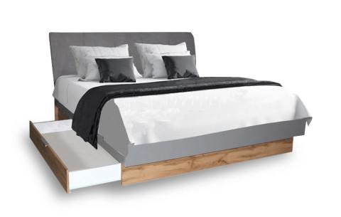 Кровать двуспальная Линц с ящиками (без каркаса и матраса) MiroMark