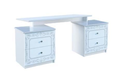 Туалетный столик 4ш «Луиза» Миромарк  Белый Глянец