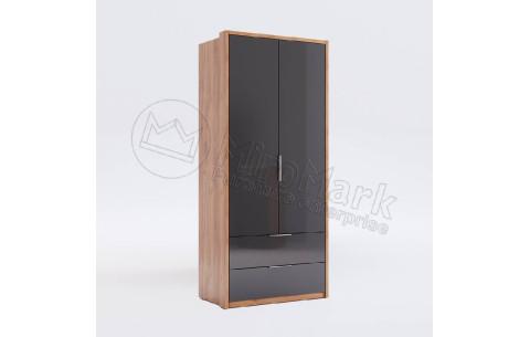 Шкаф распашной в спальню Луна 2 двери 2 ящика MiroMark
