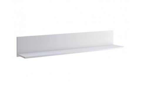 Полочка настенная Асти Миромарк  20x120x21,6  Глянец белый
