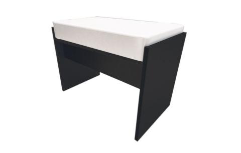 Пуф Миромарк «Виола» 48x50x35,5 Белый + Мат черный
