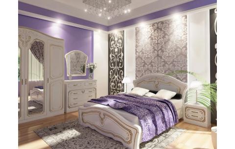 Кровать Альба деревянный вклад Неман