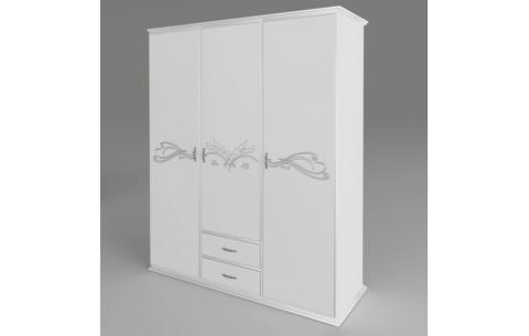 Шкаф Анабель (белый) 3-х дверный Неман