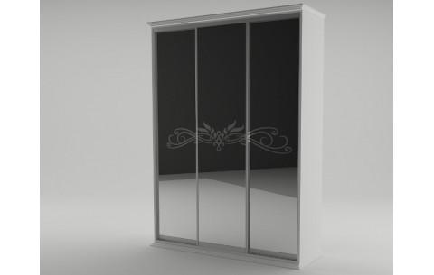 Трёхдверный шкаф купе Анабель (белый) Неман