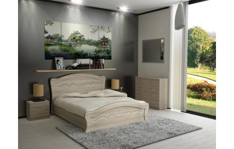 Кровать Виолетта деревянный вклад Неман