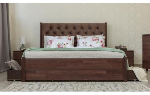 Деревянная кровать Челси с ящиками Олимп