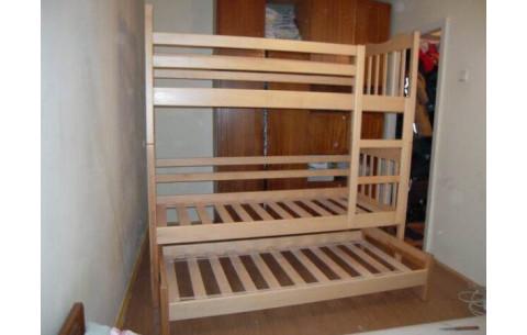"""Двухъярусная кровать-трансформер """"Маугли""""  с дополнительным спальным местом Дримка"""