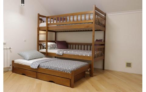 """Двухъярусная кровать-трансформер """"Том и Джери""""  с дополнительным спальным местом Дримка"""