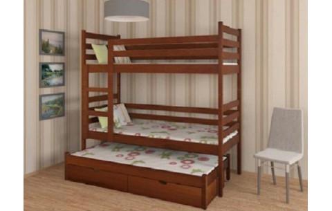 """Двухъярусная кровать-трансформер """"Шрек""""  с дополнительным спальным местом Дримка"""