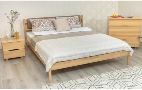 Деревянная кровать Лика без изножья мягкая спинка Олимп