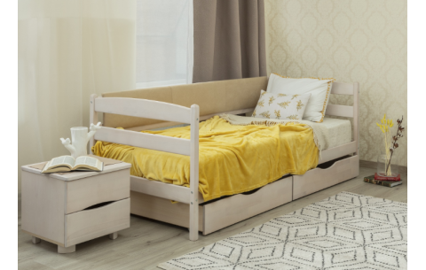 Детская односпальная кровать Марио с мягкой спинкой Олимп