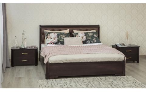Деревянная кровать Милена с мягкой спинкой и механизмом Олимп