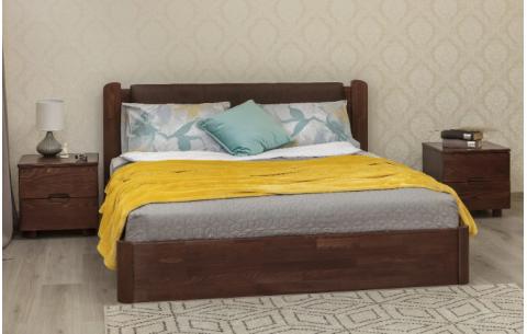 Деревянная кровать София V Премиум с мягкой спинкой и механизмом Олимп
