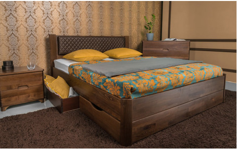 Деревянная кровать Грейс с ящиками Олимп