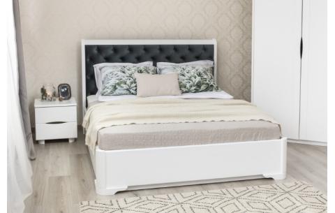 Деревянная кровать Милена Премиум мягкая спинка Олимп