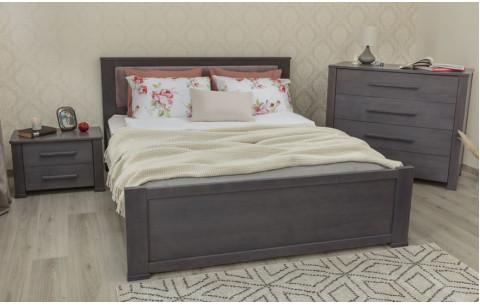 Деревянная кровать Оксфорд Премиум с мягкой спинкой и ящиками Олимп