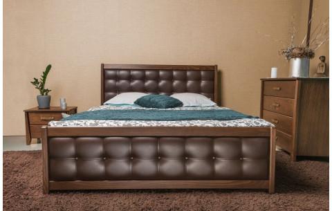 Деревянная кровать Сити Премиум мягкая спинка Олимп