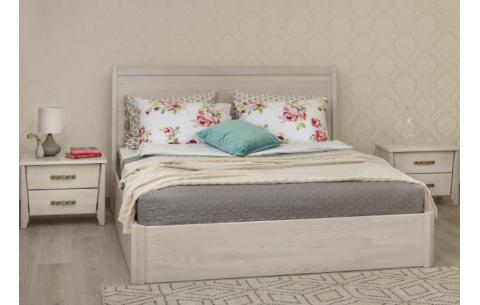 Деревянная кровать Сити Премиум с филенкой и подъемной рамой Олимп