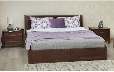 Деревянная кровать Сити с филенкой и подъемной рамой Олимп