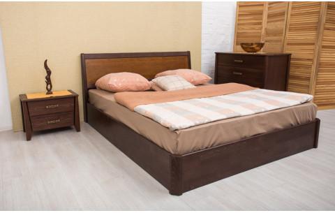 Деревянная кровать Сити с интарсией с механизмом Олимп